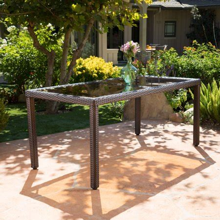union outdoor wicker rectangular dining table