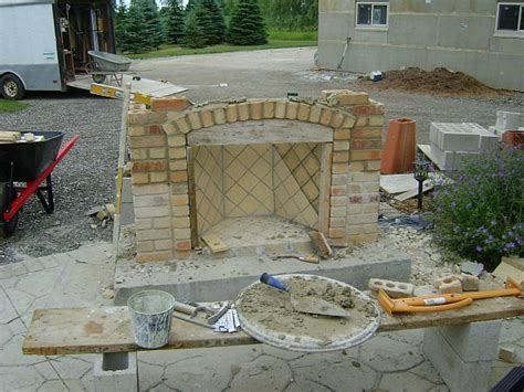 masonry fireplace kit a guide to shopping for outdoor fireplace kits