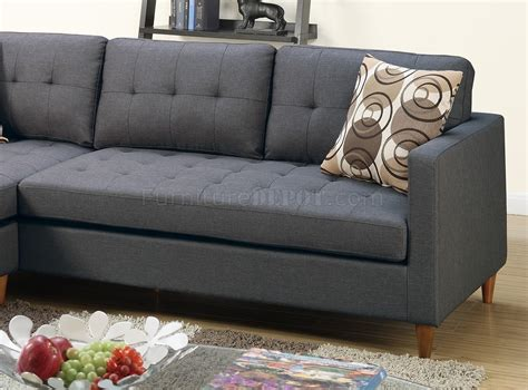 reversible sectional sofa blue grey fabric boss
