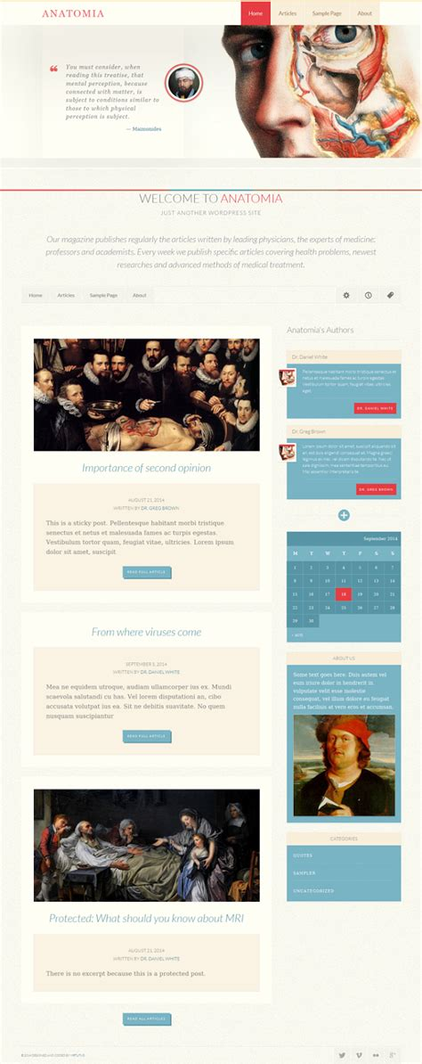 simple blog themes html anatomia simple blog or magazine theme download new themes