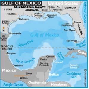 gulf map gulf of mexico map mexico maps gulf of mexico facts location world atlas hurricane debby 24 june