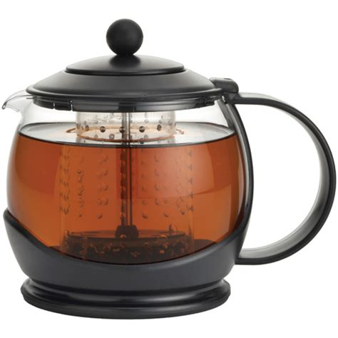 Infuser Tea Pot glass teapot with infuser black in tea kettles and infusers