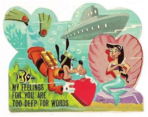 goofy valentines vintage goofy mermaids and mythology