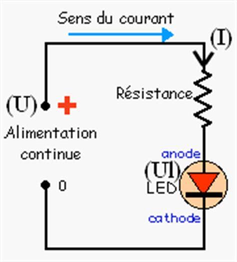 resistance pour diode 12v calcul de r 233 sistance pour une led
