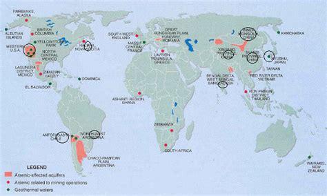 world major lakes map chronic arsenic poisoning history study and remediation