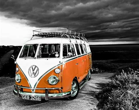 orange volkswagen van vw cer van orange the uk art depot shop