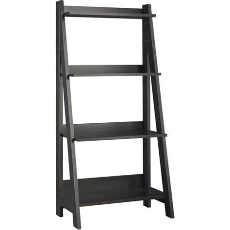 Ladder Shelf Walmart by Bush Alamosa Ladder Bookcase Classic Black Walmart