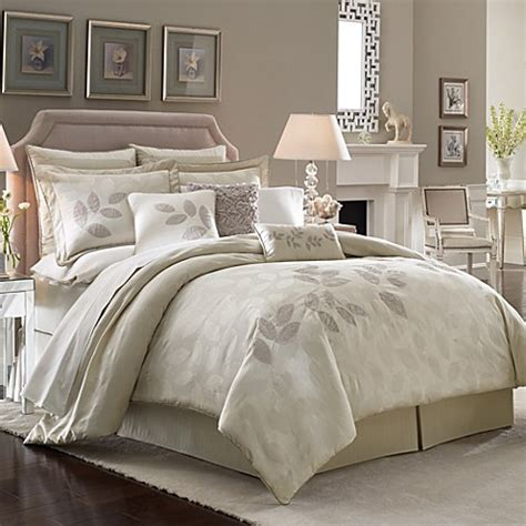 lenox bedding lenox platinum leaf comforter set bed bath beyond