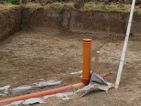 haus ohne keller drainage der bagger ist da unser hausbau