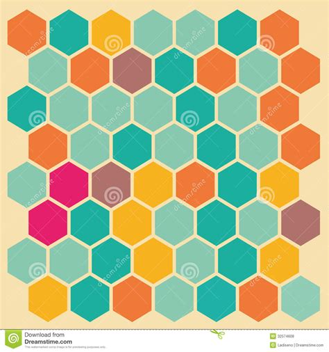 color pattern maker hexagon background royalty free stock photos image 32574608