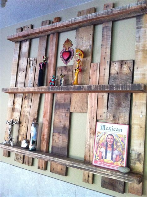 pallet crafts projects upcycled pallet shelf project