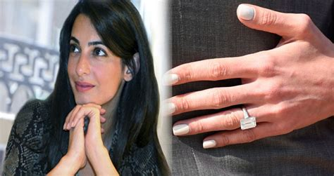 stacy keibler engagement ring amal clooney thinks 163 450 000 engagement ring is too fancy