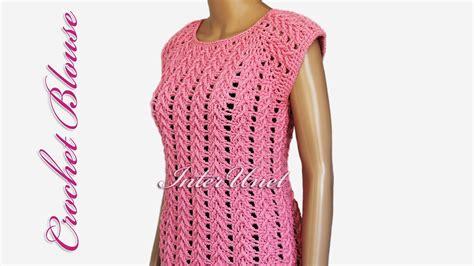 crochet shirt pattern youtube crochet blouse youtube blue denim blouses
