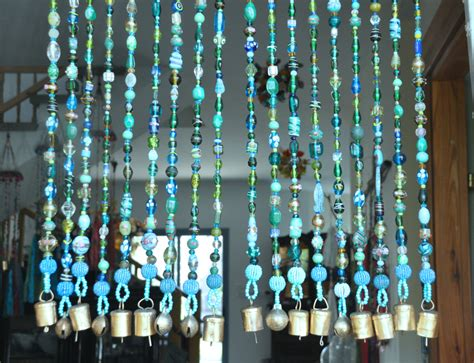 Beaded Window Curtains Beaded Curtain Bohemian Curtain Window Curtain Beaded Door