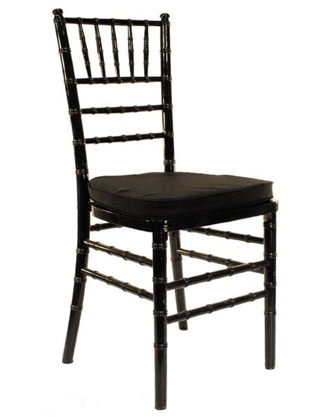 Black Chairs by Chiavari Chairs Celebration Rentals Inc