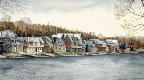 boat row houses philadelphia boathouse row watercolor painting prints by nick santoleri