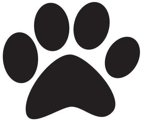 dog paw print template clipart best