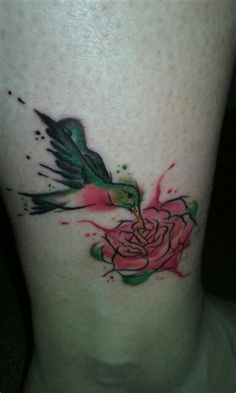 watercolor tattoo nanaimo mallory swinchock hummingbird s