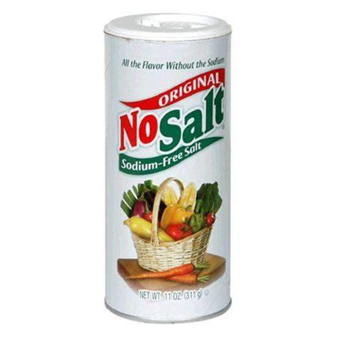 No Salt Detox Diet by No Salt Salt Substitute A Source Of Potassium For A