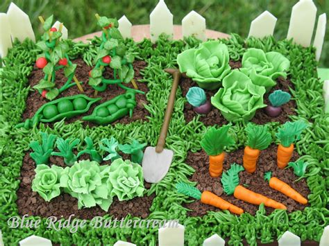 Garden Of Vegetables Vegetable Garden Cake Blue Ridge Buttercream