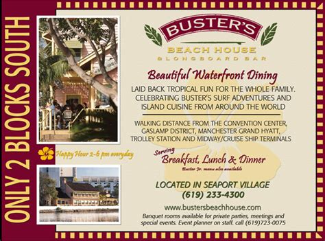 busters house san diego buster s house san diego restaurants dining