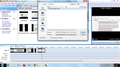 tutorial membuat video dengan windows movie maker cara membuat video dari foto slideshow menggunakan
