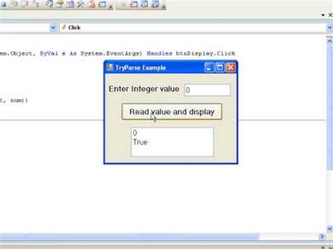 visual basic tutorial for beginners free visual basic 2008 for beginners tutorial 9 2 tryparse