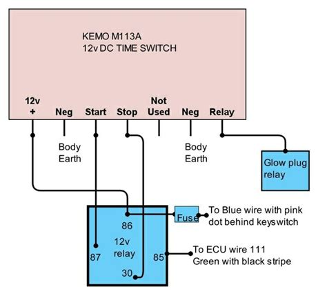 glow timer wiring diagram efcaviation