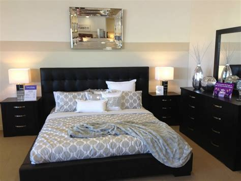 black bedroom suite in genuine leather leather made leather beds