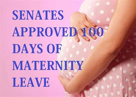 extend maternity leave to 100 days sen pia s cayetano new sss contribution table for 2017 ph juander