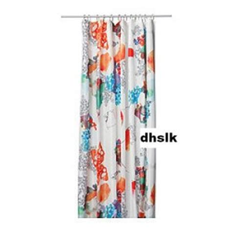 Aqua And Orange Curtains Ikea Tallholmen Bold Flowers Fabric Shower Curtain Orange Turquoise Pink