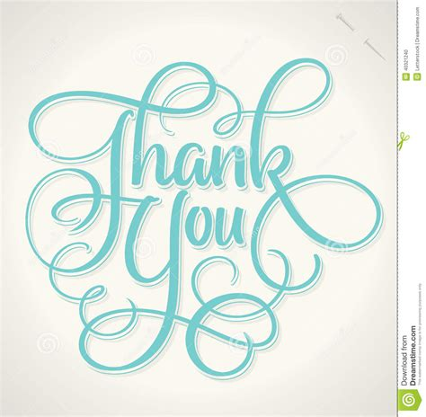 Handmade Lettering - thank you lettering vector stock vector