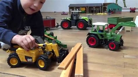 Bruder Kid Meets Britains Big Farm Tractors For