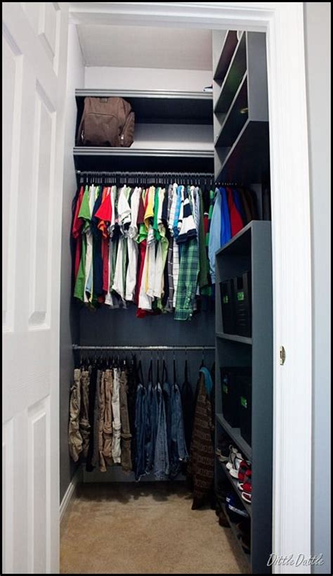 boy s closet mdf shelving unit home ideas