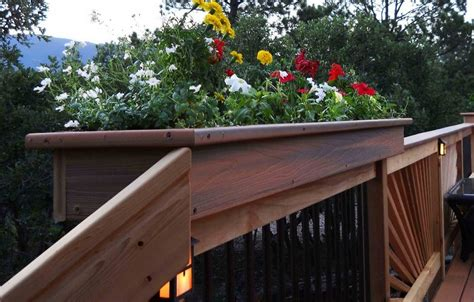 planters for deck rails deck rail planters beautiful for your garden doherty house