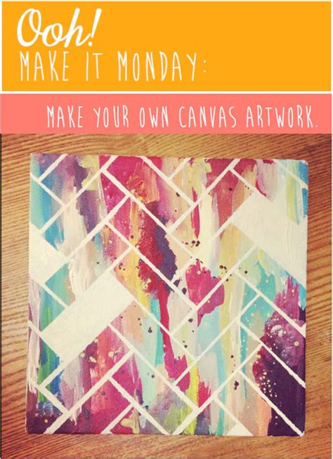 diy projects canvas 37 awesome diy wall ideas for