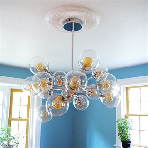 how to hang a chandelier finally a chandelier and how to install a ceiling