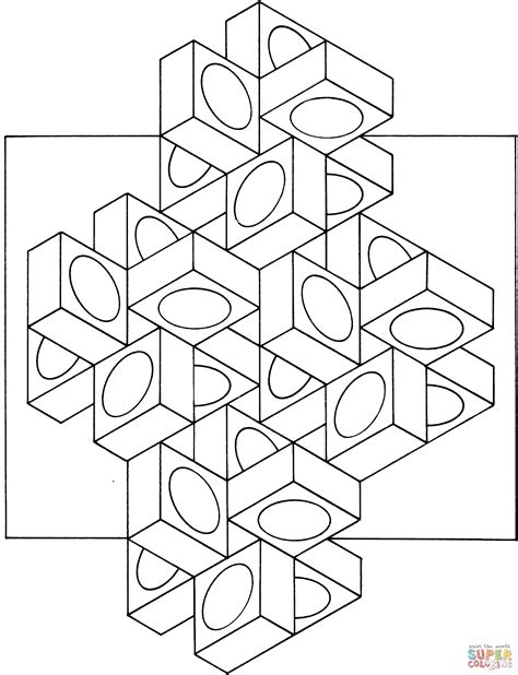 Optical Illusion 14 Coloring Page Free Printable Coloring Pages Optical Illusions