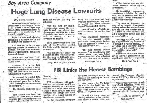 Statute Of Limitations On Mesothelioma Claims by San Francisco Chronicle Archives California Mesothelioma