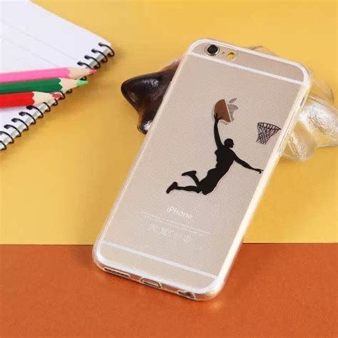basketball player dunk apple logo iphone 6 6 plus phone soft protection phone