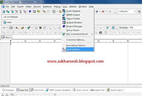 toad oracle tutorial pdf how to setup shortcuts in toad oracle applications