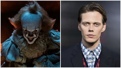 actor with evil eyebrows it s new pennywise actor bill skarsgard breaks down what