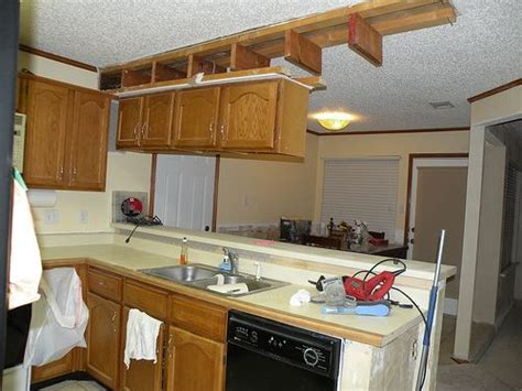 How To Remove Soffit Above Kitchen Cabinets How To Remove Cabinets A Soffit Wall Then Patch And Texture It House Of Hepworths