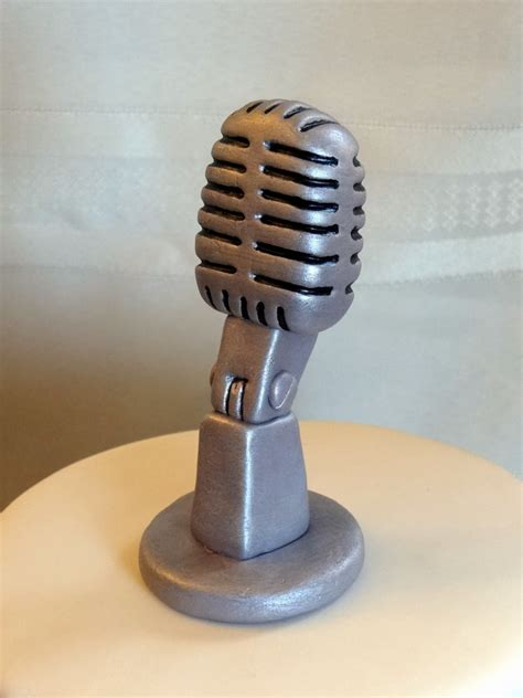 Handmade Microphone - tiers of cakery cake with keyboard microphone