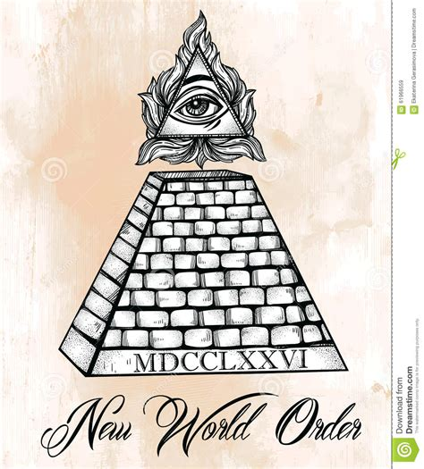 all seeing eye pyramid symbol stock vector image 61966559