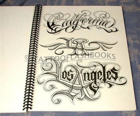tattoo font quiz boog name script lettering gangster book ebay
