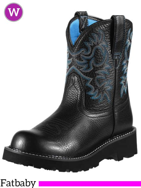 ariat s fatbaby original boots black deertan 10000833