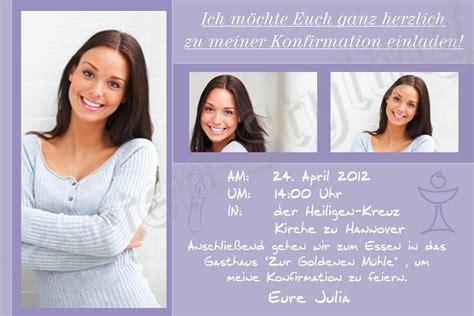 Einladungskarten Hochzeit Ohne Foto by Einladungskarte Zur Konfirmation Einladungskarten Zur