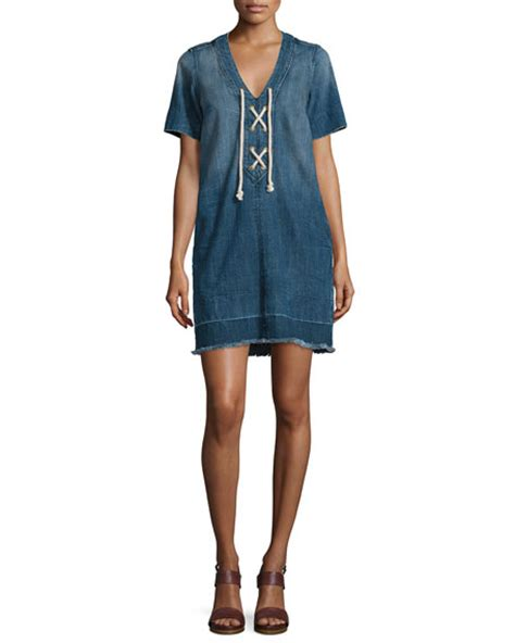 Yoku Dress V current elliott the all laced up sleeve dress