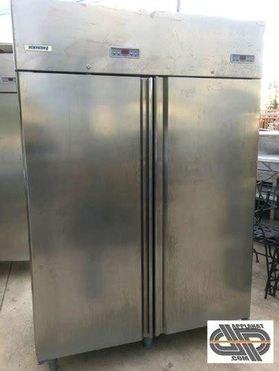 armoire frigo inox  portes double temperature positif